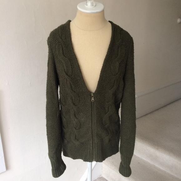 cdc4523b8021ab Loft Cable Knit Moss Green Deep V Zip Sweater. M_5a3808da9a9455d6e0052010